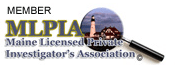 Logo for Maine Licensed Private Investigator's Association.
